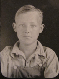 Former Elkmont resident, Winfred Ownby, as a schoolboy in the late 1920s