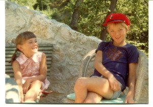 My brother and I on a childhood holiday