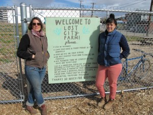 Lost City Farm founders: Lyndsey Langsdale (left) and  Toni Ortega