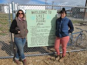 Lost City Farm founders: Lyndsey Langsdale (left) and  Toni Ortega