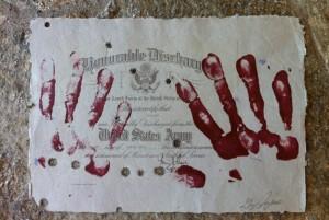 Greg Jayne's Combat Paper Artwork