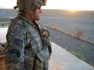 David Drakulich on deployment in Afghanistan