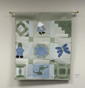 Luana Ritch's Combat Paper Quilt