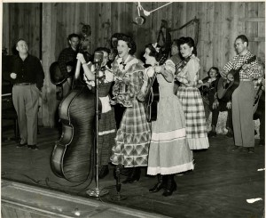 Lily May Ledford and the Coon Creek Girls and Renfro Valley.   Photo courtesy of (Berea College, South Appalachian Archives, John Lair Collection)