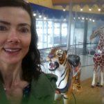 Rachel on the Carol Ann Carousel in Cincinnati